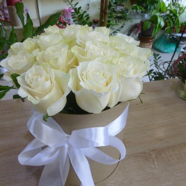 15 роз в коробке (крафт)