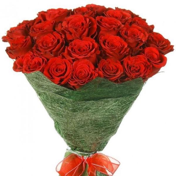 25 роз в сизале