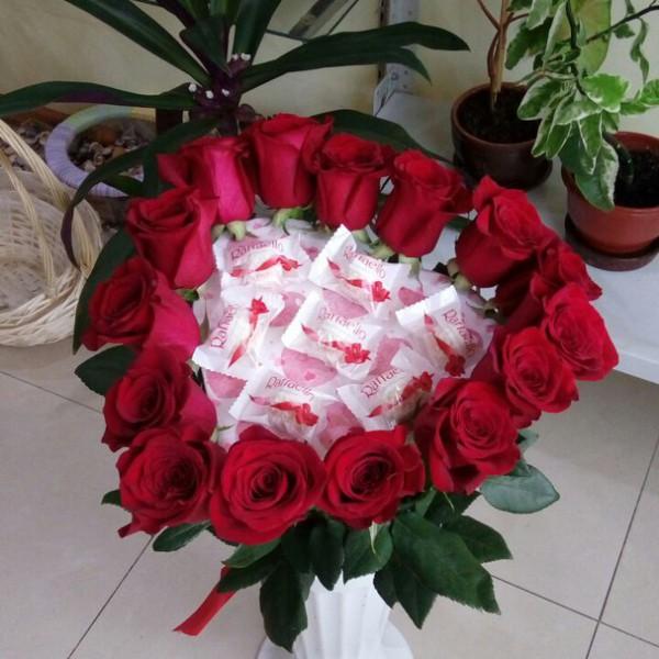 Сердце Амура 15 роз