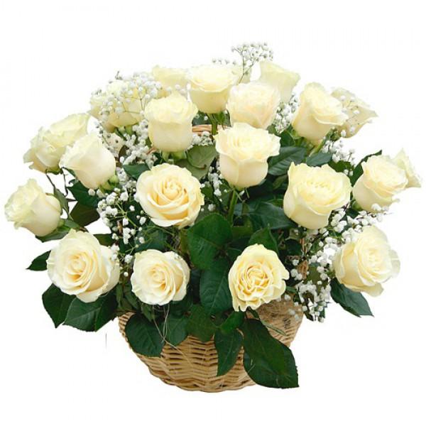 29 роз в корзине
