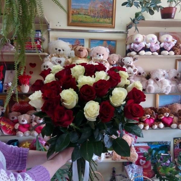 Арлекино 25 роз