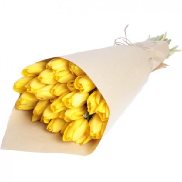 Тюльпаны в крафт бумаге